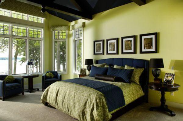 спальня в зеленых тонах фото 14