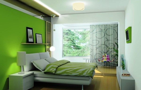 спальня в зеленых тонах фото 15