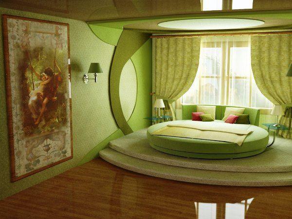 спальня в зеленых тонах фото 17