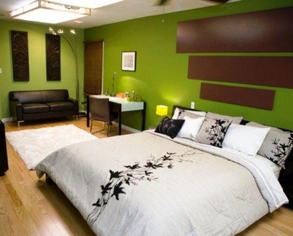 спальня в зеленых тонах фото 21