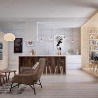 гостиная в скандинавском стиле фото 15