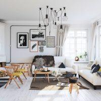 гостиная в скандинавском стиле фото 31