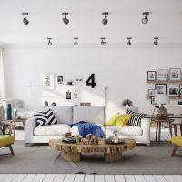 гостиная в скандинавском стиле фото 39