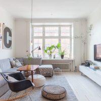 гостиная в скандинавском стиле фото 40