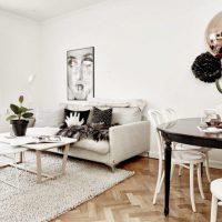 гостиная в скандинавском стиле фото 42