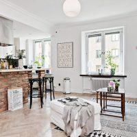 гостиная в скандинавском стиле фото 48