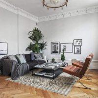 гостиная в скандинавском стиле фото 54