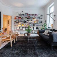 гостиная в скандинавском стиле фото 68