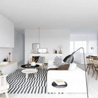 гостиная в скандинавском стиле фото 71