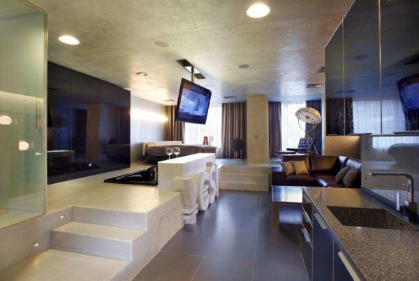 гостиная в стиле хай тек фото 13