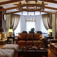 гостиная в стиле кантри фото 51