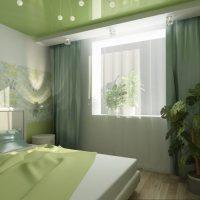 натяжные потолки в спальне фото 16
