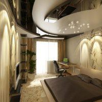 натяжные потолки в спальне фото 17