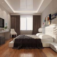 натяжные потолки в спальне фото 27