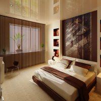 натяжные потолки в спальне фото 40