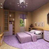 натяжные потолки в спальне фото 42