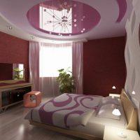 натяжные потолки в спальне фото 48