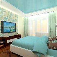 натяжные потолки в спальне фото 51