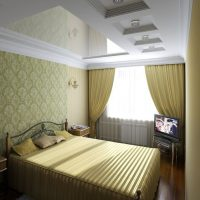 натяжные потолки в спальне фото 52