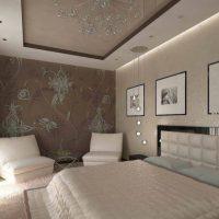 натяжные потолки в спальне фото 58