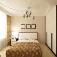 натяжные потолки в спальне фото 60