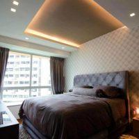 натяжные потолки в спальне фото 62