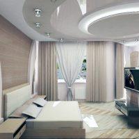 натяжные потолки в спальне фото 64