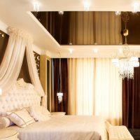 натяжные потолки в спальне фото 70