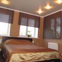натяжные потолки в спальне фото 73