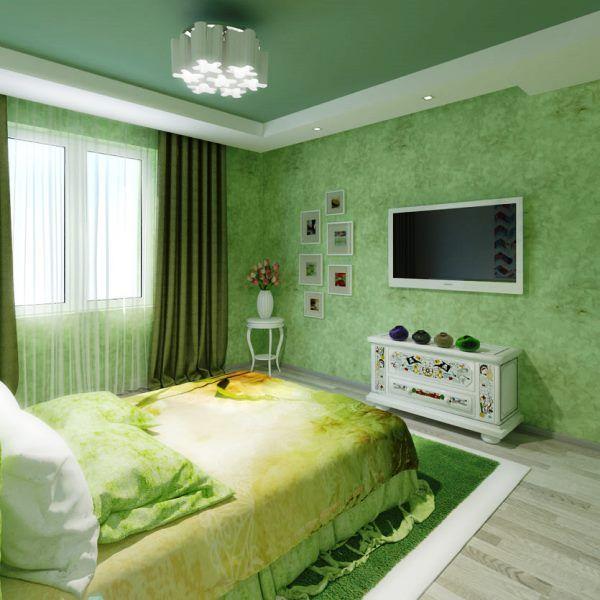 натяжные потолки в маленькой спальне дизайн фото
