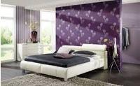 как красиво поклеить обои в спальне двух цветов фото