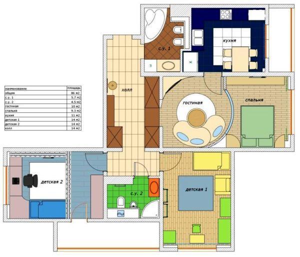планировка гостиной фото