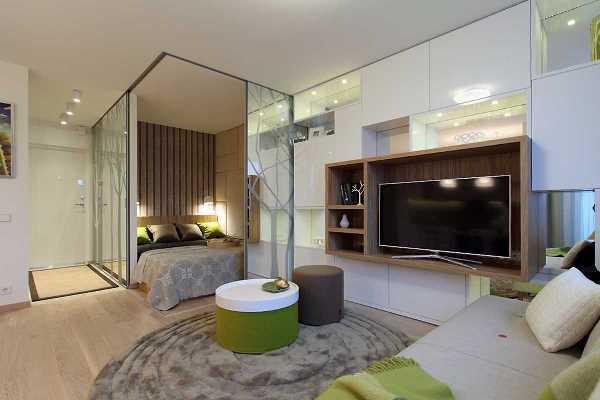 дизайн однокомнатной квартиры 40 кв м фото 10