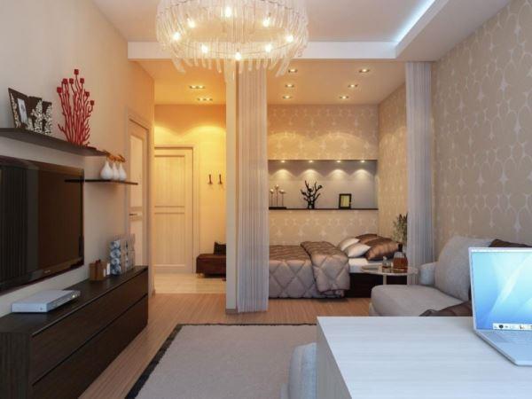 дизайн однокомнатной квартиры 40 кв м фото 6