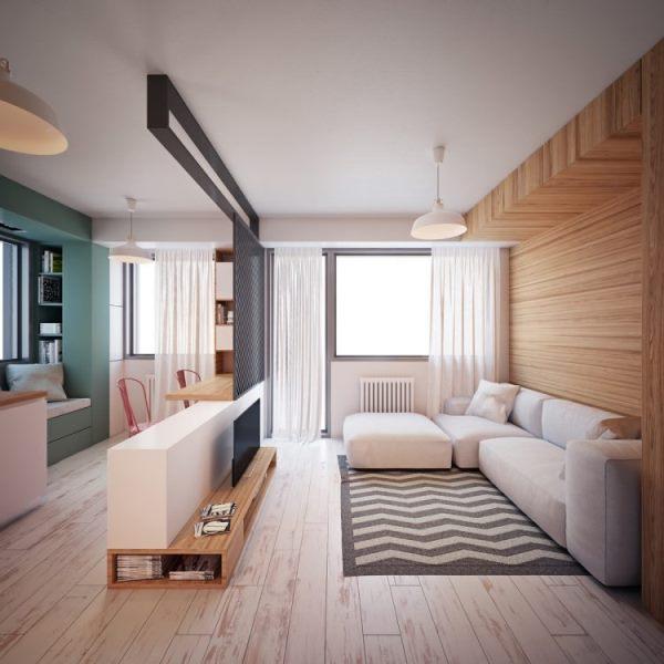 дизайн однокомнатной квартиры 40 кв м фото