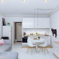 дизайн 1-комнатной квартиры 40 кв м фото 17