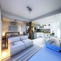 дизайн 1-комнатной квартиры 40 кв м фото 36