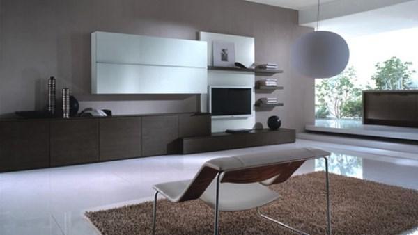 стенки в гостиную в стиле минимализм фото