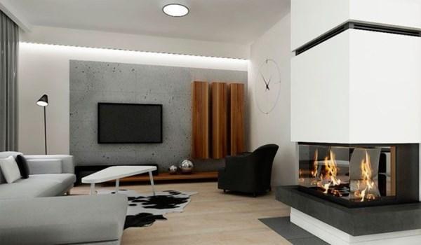 дизайн гостиной в доме фото минимализм