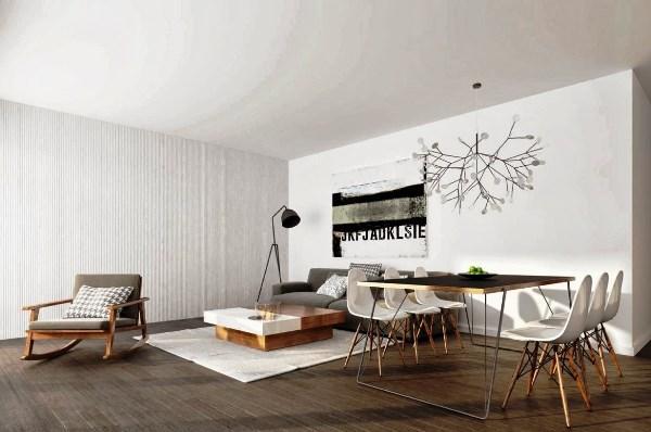 гостиная в стиле минимализм фото 23