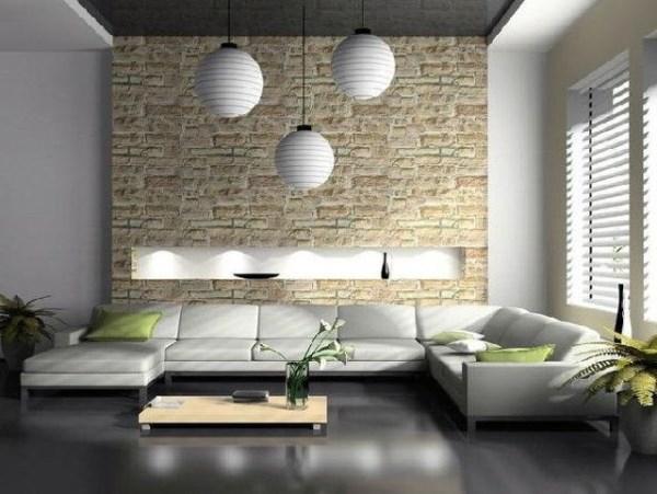зал в стиле минимализм фото