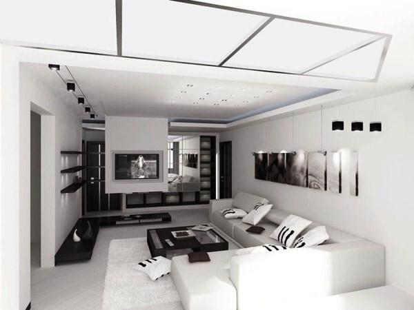 интерьер гостиной минимализм фото