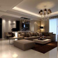 интерьер гостиной в стиле минимализм фото 17