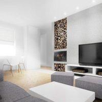 интерьер гостиной в стиле минимализм фото 34