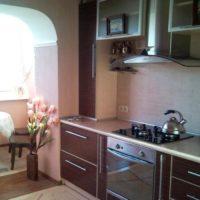 интерьер кухни с балконом фото 14