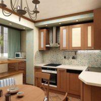 интерьер кухни с балконом фото 15