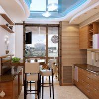 интерьер кухни с балконом фото 16