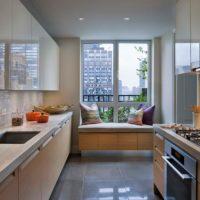 интерьер кухни с балконом фото 17