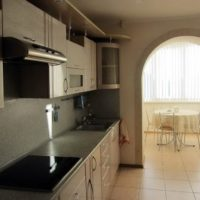 интерьер кухни с балконом фото 23