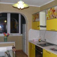 интерьер кухни с балконом фото 31